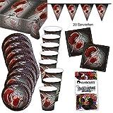 Blutige Halloween Party Box Partypaket 38-teilig Deko Set