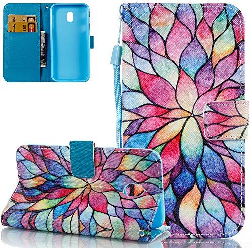 Samsung Galaxy J5 J530 Hülle Europäisches Modell,Nnopbeclik Flip Case Schutzhülle, Anti-Rutsch Soft TPU + PU Ledertasche mit Standfuß für Samsung Galaxy J5 J530 2017 5.2 Zoll