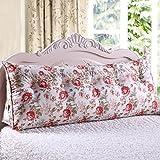 YOTA HOME Bedside Rückenlehne Doppelfenster und Dreiecksteller Kopfstütze Bett Rückenpolster Abnehmbar und Waschbar (Größe : 60*25*50cm)
