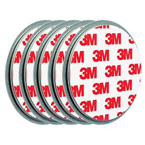 ECENCE 5X Klein-e Mini Rauchmelder-Befestigung Magnet Halter-ung Magnethalter-ung Magnet-pad Ø 50mm...