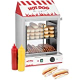 Royal Catering Cuiseur à Vapeur Hot-Dogs Machine Appareil a Hot Dog RCHW 2000 (2000 W, Capacité: 200 saucisses, 50 petits pai