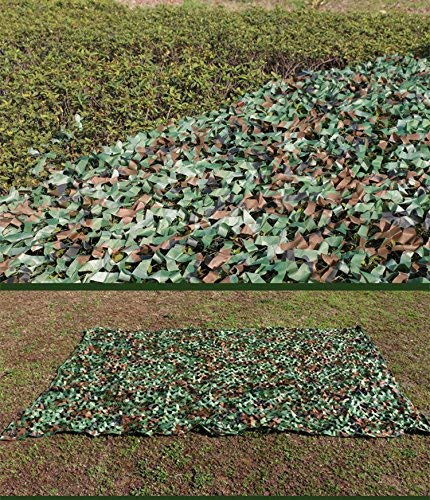 GASSNAKE 3x4 m 3x5 m 3x6 m Camouflage Net Camouflage Netting Woodland Camouflage for Forest Landscape Flame Retardant Hunting Army Outdoor White Green