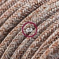 Cavo Elettrico rotondo rivestito in Cotone Tweed