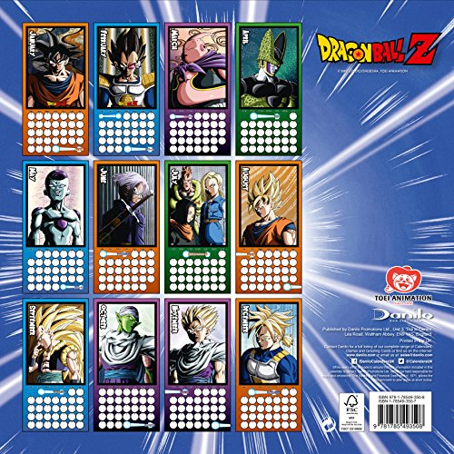 Danilo-DAN18220-Calendario-2018-con-diseo-Dragon-Ball-Z-30-x-30-cm