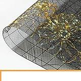 XJ&DD PVC Verre Soft Nappes,Imperméable Verbrühschutz Huile-Preuve Plaque De Cristal Fleur Or pour Coffee Table Table à Manger Compagnon De Nappe-A 90x150cm(35x59inch)