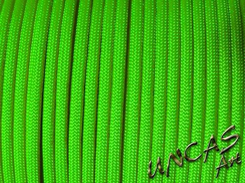 Uncas Art Original paracorde 550 Corde Type 3–30 m – Couleur Vert Fluo