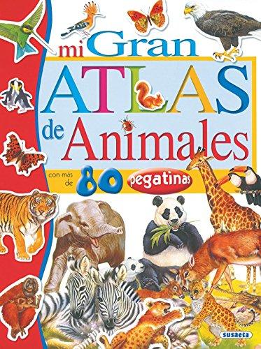 Mi gran atlas de animales con pegatinas por Francisca Valiente