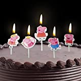 Infispace® Colorful Theme Cake Candles (Pack of 5)