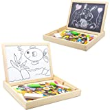 FunBlast Multifunctional Magnetic Wooden Chalkboard Kids Educational Toys Game Whiteboard Blackboard Drawing Toys for Childre