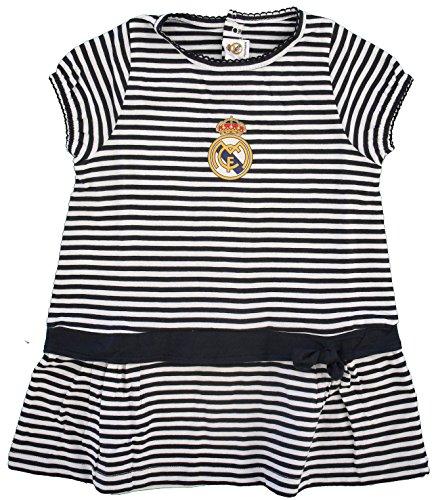 Vestido Real Madrid Niñas Rayas Negras (12 Meses)