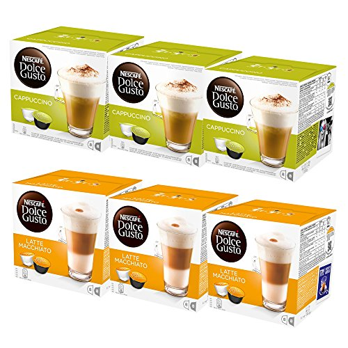 Get Dolce Gusto Latte Machiatto & Cappuccino Combo Pack (6 x 16's) 96 Pods from Nestle