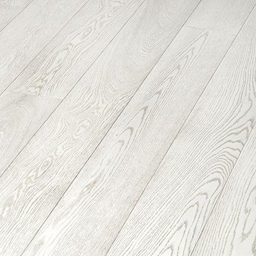 8 Listelli pavimento parquet laminato 2,131m2 acero bianco design...