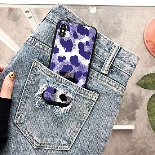GUYISJK iPhone-Handyhülle Handy Shell Blu-Ray Glas Leopard XS Maxx Apple Plus 7 Paar 8 Street Fashion Männer Und Frauen Modelle 6S All-Inclusive Silikon Anti-Herbst 7 Einfache Xr Kreative Schutzh