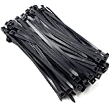 AIXMEET Serre-cables électriques 400 mm x 7.6 mm, Attache Cable, Serre Cables en plastique, Colliers Serre-Cable 400mm, Noir,