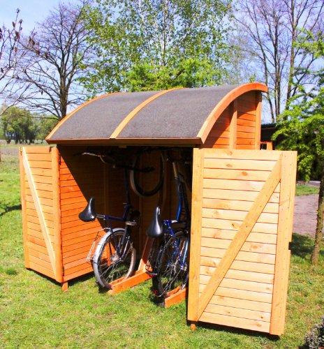 """Promadino Fahrradbox """"Martin"""" Holz"""