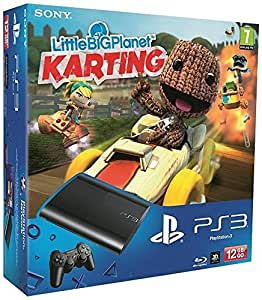 Console PS3 Ultra slim 12 Go noire + Little Big Planet : Karting