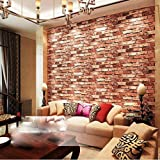 Eurotex 3D Wallpaper Brick Design Washable , 1 Roll/57 Sq Ft (53 X1000Cm)