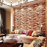 Eurotex 3D Wallpaper Brick Design Washable , 1 Roll/57 Sq Ft (53 X1000Cm)