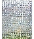 Lifetree 017 Fensterfolie Sichtschutzfolie Statisch Folie Selbstklebend 90 * 200cm /klein Mosaik