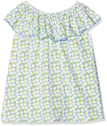 TUTTO PICCOLO Baby-Mädchen Kleid 4277S18, Blau (Porcelain B02), 98 cm (Herstellergröße:36.M) Tutto Piccolo