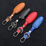 9Lune® Housse étui coque cuir de haute qualité support voiture télécommande clé avec clé chaîne pour Nissan 3boutons