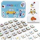 Letras y Números Magnéticos para Niños Juguetes Educativos Montessori para Aprendizaje Preescolar Ortografía Cuenta 142 Pieza
