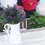 Nahuaa lila pflanzen 4 stücke künstliche kunststoff pflanzen dekoration künstliche sträucher dekoration büro garten balkone park - 3