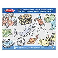 Melissa & Doug Jumbo 50-Page Kids colouring Pad (High-Quality Paper; Oversized Sheets; Space, Sharks, Sports, and More)