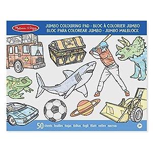Melissa & Doug- Jumbo 50-Page Bloc de Colorear, Multicolor (Melissa&Doug 14226)