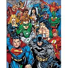 GB Eye Limited Collage Ligue des Justiciers DC Comics 40x 50cm