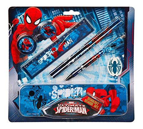 Undercover SPON6453 - Spiderman Schulset, 8-teilig, blau