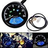 NXNNXN Kilometerzähler-Geschwindigkeitsmesser Motorrad-LCD Digital mit geführter heller Fernlicht-Anzeige und Warnfunktion