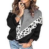 Otoño Invierno Mohair Suéter de Leopardo Mujer Pullover Tallas Grandes Suéteres para Mujer Jersey de Punto de Gran tamaño