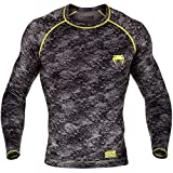 Venum Rashguard, tramo, L/S, Gris, camiseta, top, Gym, Compression, MMA, BJJ, small