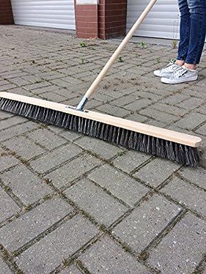 Straßenbesen 80cm breit Besen Saalbesen Kehrbesen mit Buchestiel 150cm