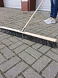 Straßenbesen 100cm breit Besen Saalbesen Kehrbesen mit Buchestiel 150cm