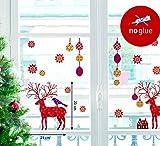 XMAS Fenster Sticker Weihnachten - Hirsch - statisch haftend Fensterbild