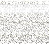 Plauener Spitze by Modespitze, Store Bistro Gardine Scheibengardine mit Stangendurchzug, hochwertige Stickerei, Höhe 60 cm, Breite 112 cm, Creme