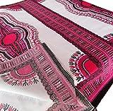 RaanPahMuang African Dashiki White Cotton Fabric for 1