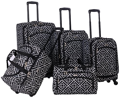 american-flyer-the-astor-collection-5-piece-spinner-luggage-set-black-white