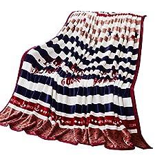 BDUK Weiche, bequeme Frettchen flauschigen Bettdecken Nahum Dual Picc warme Decke ist einfach und elegant