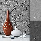 NEWROOM Steintapete Grau Papiertapete Steinoptik schöne moderne und edle Design 3D Optik , inklusive Tapezier Ratgeber