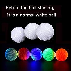 Confezione di 6pezzi ---- New hi-q USGA LED palline da golf per allenamento di notte lusso pratica Distance palline da golf palle di colore misto (rosa/blu/rosso/verde/bianco/arancione)