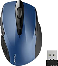 TeckNet Pro Wireless Mouse Kabellos Maus, 2600DPI, Batterielebensdauer von 24 Monaten, 2.4G
