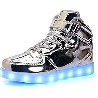 Mixte Enfants LED Chaussures de Sport 7 Changement de Couleur Chaussure de Mutilsport USB Rechargeable LED Lumineuse…