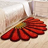 #2: Home Castle Half Flower Shaped Shaggy Runners For Bedside,Living Room & Drawing Room.