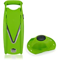 B ouml rner Mandolina Powerline Set Basic V5 38x14x7 cm Rossa  Taglio Professionale per Preparazione Frutta e Verdura   Verde