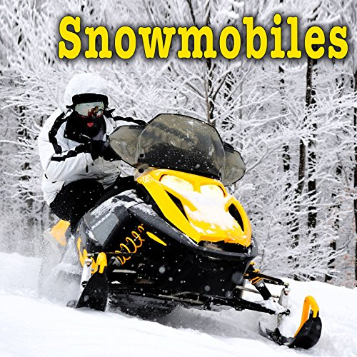 Polaris 440 Snowmobile Pulls up to Side a ta Fast Speed
