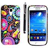 STYLE YOUR MOBILE SAMSUNG GALAXY S4 MINI i9190 VARIOUS DESIGN SILICONE SKIN PROTECTION CASE COVER + FREE STYLU (DARK CIRCLE FISH SILICONE)