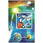 Miniature sheet of John Glenn and the space shuttle - 1 stamp issued 1999 / Somalia / Mint and Unmounted